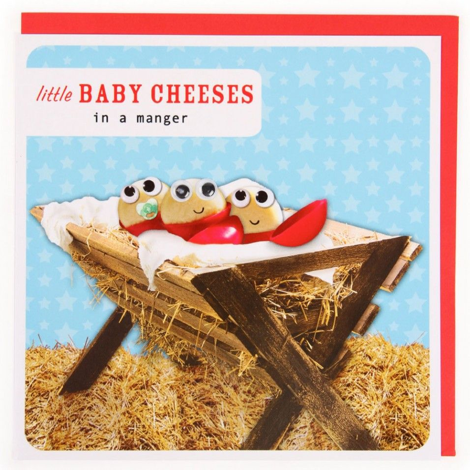 Little baby cheeses Christmas card Christmas cards
