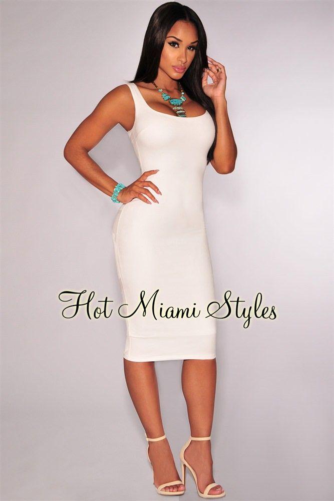 White Faux Suede Sleeveless Dress Clubwear Dresses b375672c7