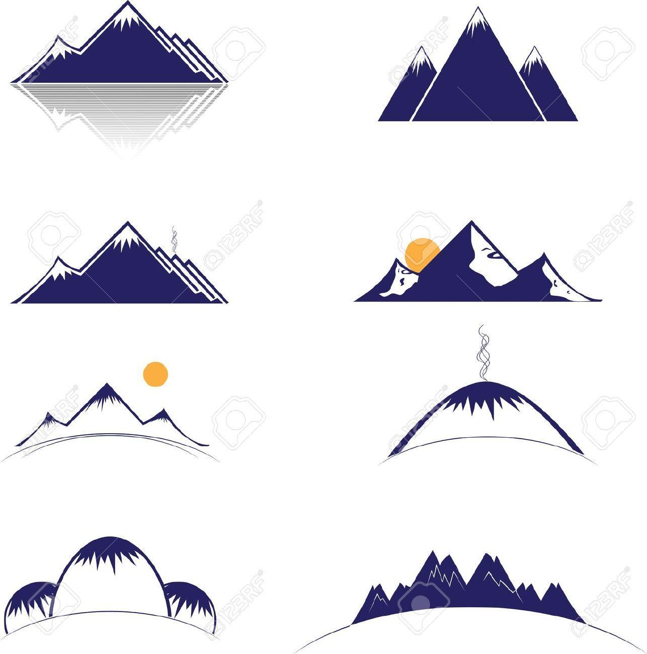 mountainscape vector Google Search Mountain drawing