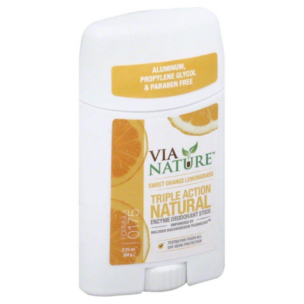 Deodorant Stick Lemongrass & Sweet Orange 2.25 oz