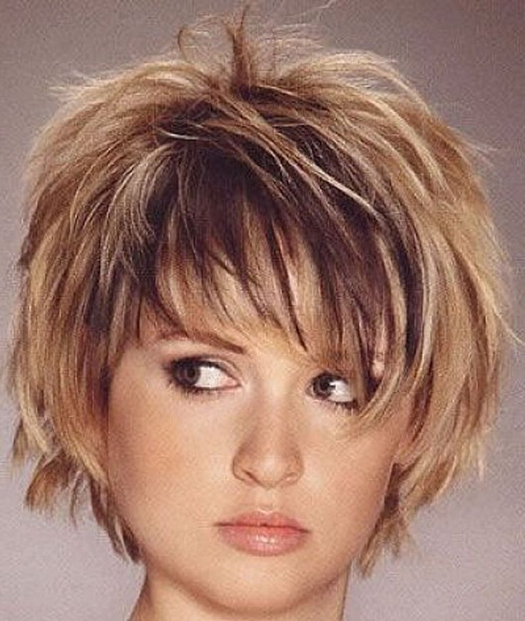 Image Result For Hairstyles For Coarse Thick Hair Over 50 Short Hair With Layers Short Hair Styles For Round Faces Choppy Bob Hairstyles