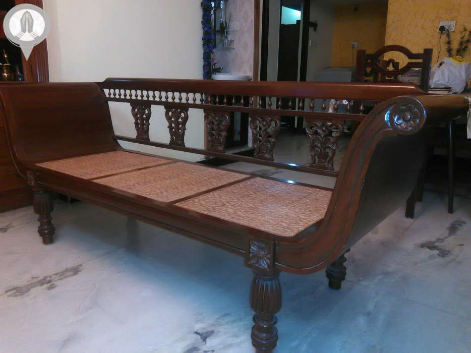 Diwan In Burma Teak From Chennai India Indian Living Rooms Furniture Colonial Furniture