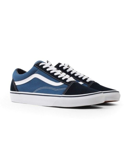 Vans Old Skool Trainers Navy On Sale Now Shop Now At The Idle Man Stylemadeeasy Vans Old Skool Trainers Vans Old Skool Navy Vans