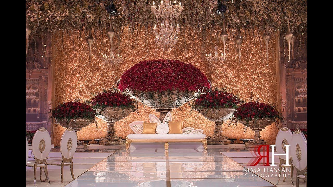 Saint Regis Dubai Wedding Ayesha Ali Dubai Wedding Classic Wedding Decorations Wedding Backdrop Decorations