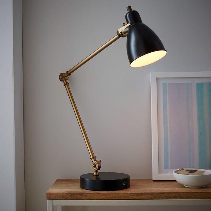 Industrial Task Table Lamp + USB | CARRIVEAU LOFT. | Pinterest ...