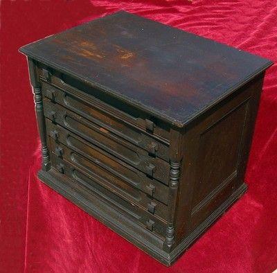 Antique Thread Spool Drawer Cabinet