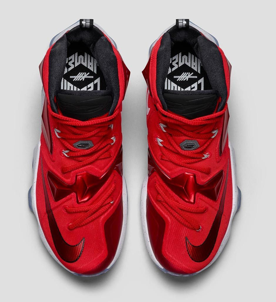 ac41215d6f3 Nike Basketball s next LeBron 13 drop is done in a sporty colorway that is  done in a Cleveland Cavaliers Away based blend. The high tech basketball  kicks a
