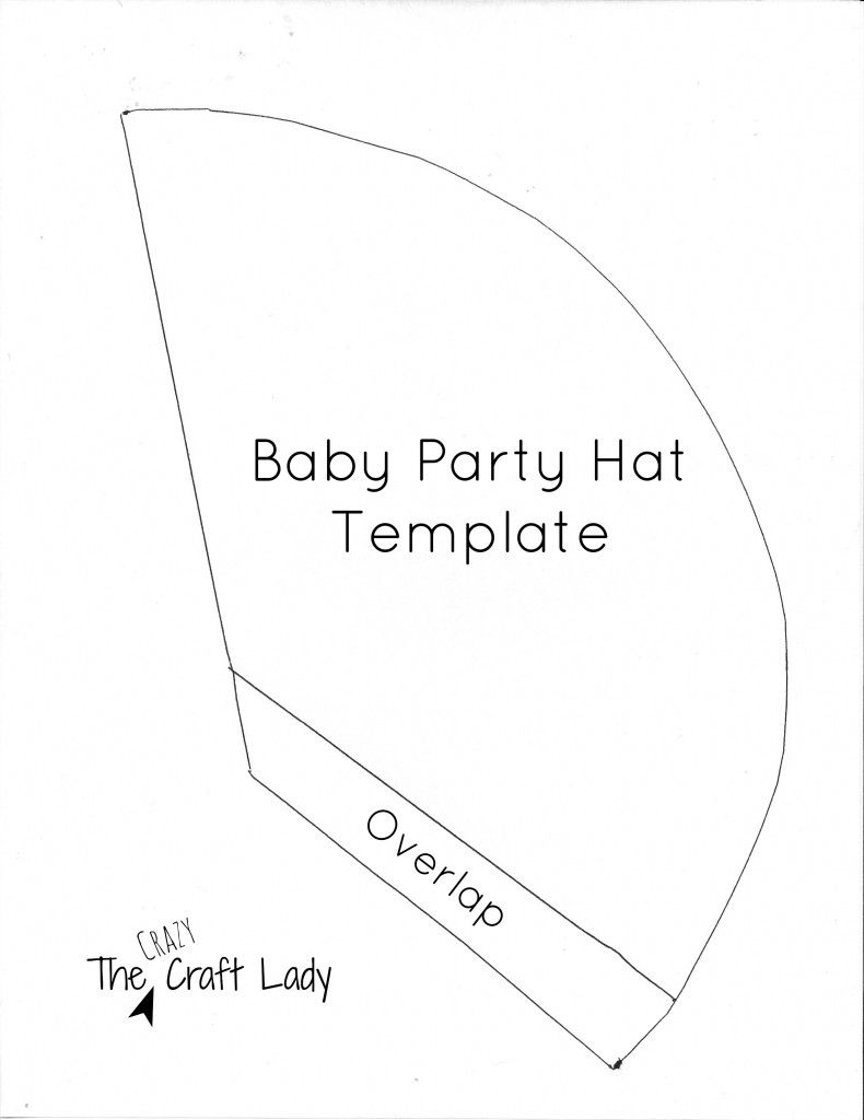 Baby Party Hats And Free Printable Template Party Hats Party