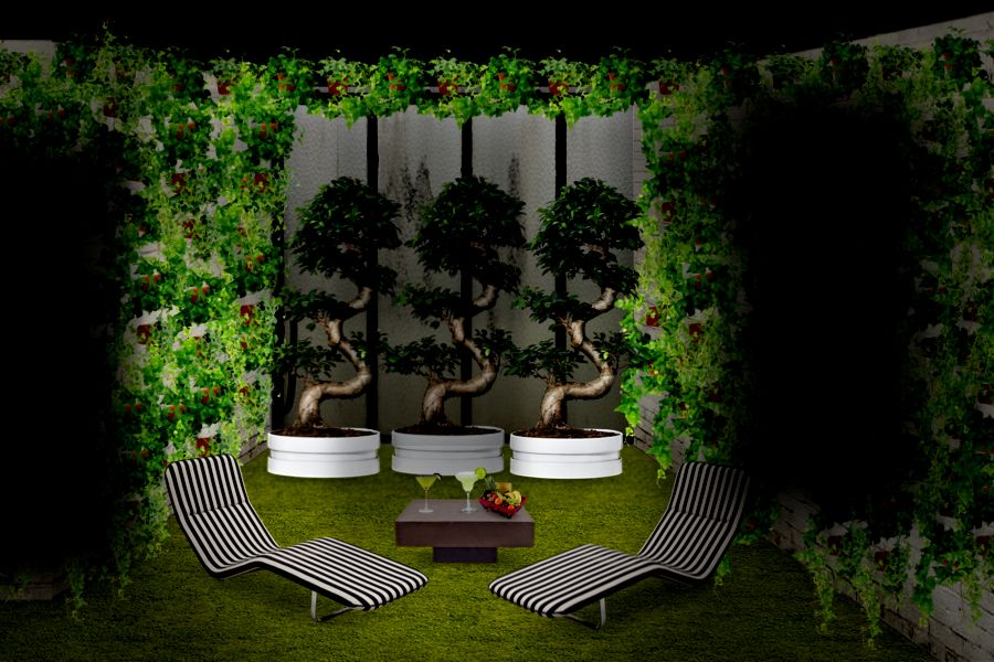 Design Garden outside Patio. Interact with the room at http://www.neybers.com/?photo=182451 #neybers