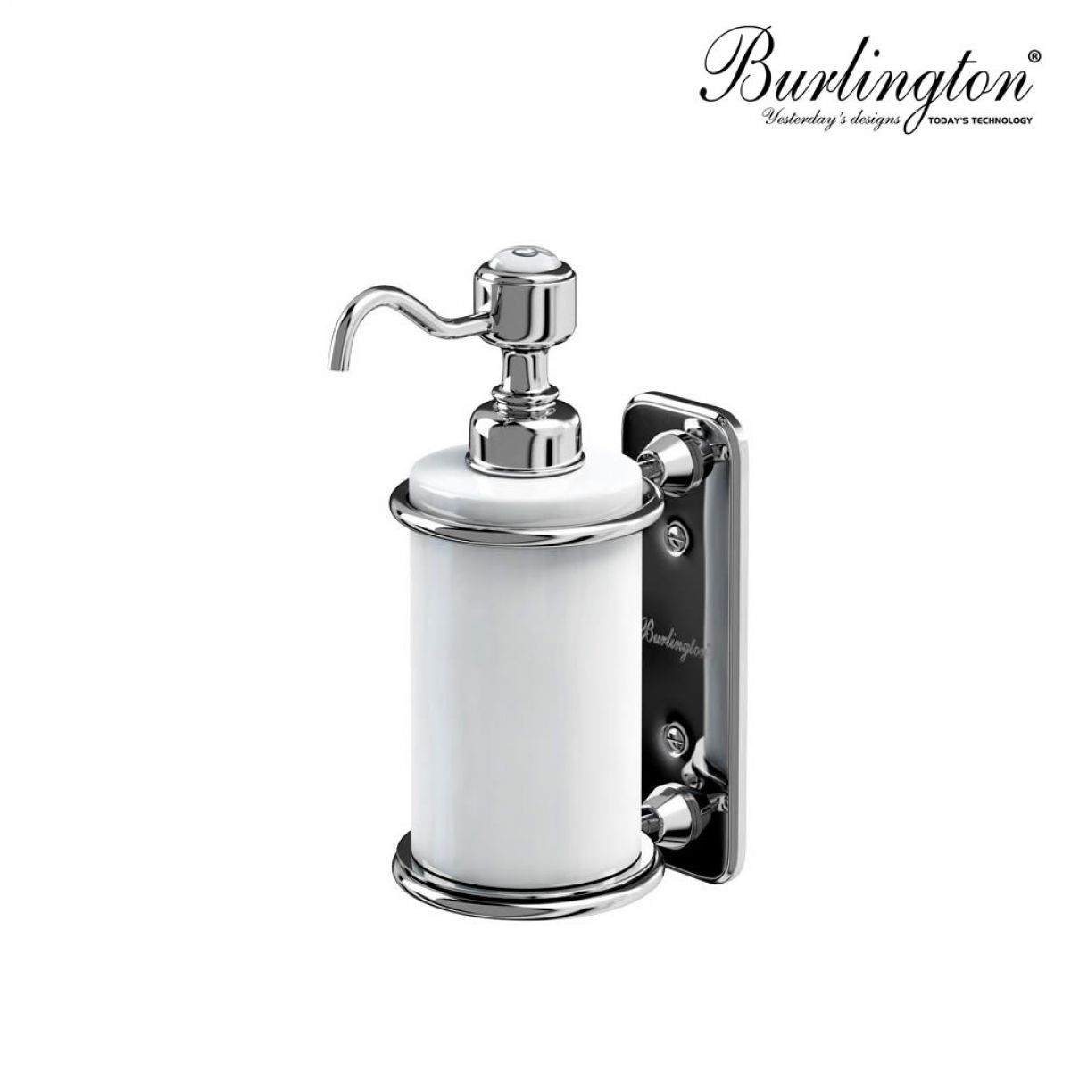 Burlington Traditional Wall Mounted Liquid Soap Dispenser Wall Mounted Shower Soap Dispenser