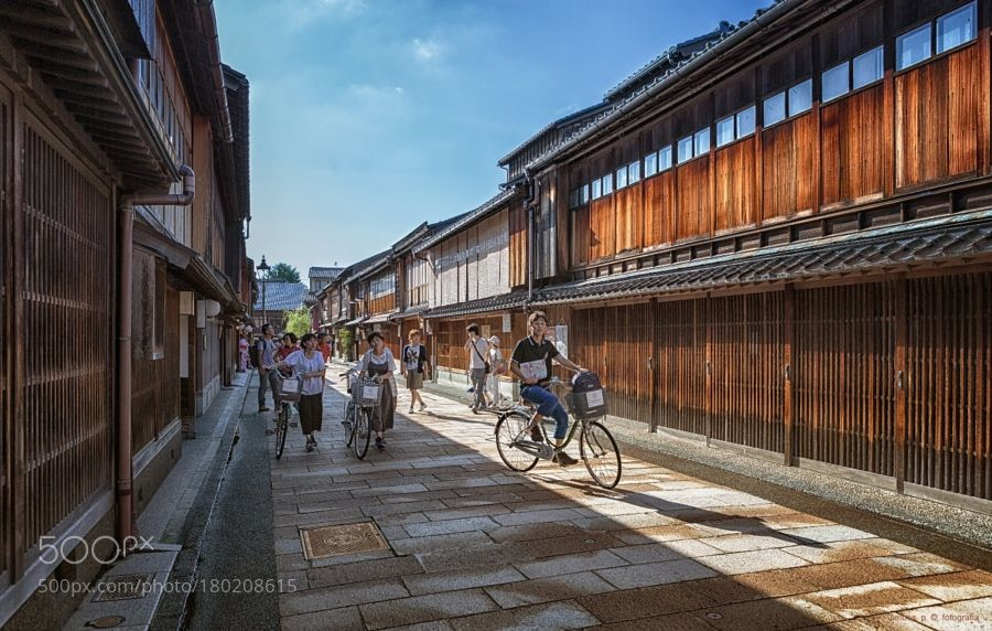 Popular on 500px : Cycling by the geisha district. by jimbos