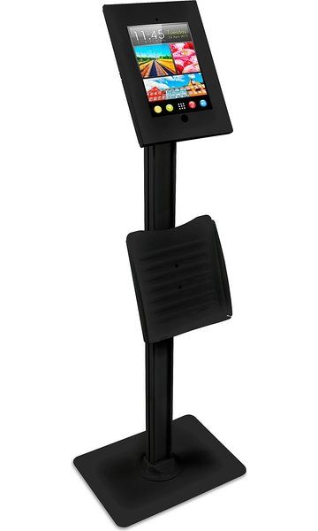 Anti-theft Floor Stand Catalogue Holder For iPad 2//3//4//Air//Air2//Pro 9.7 White