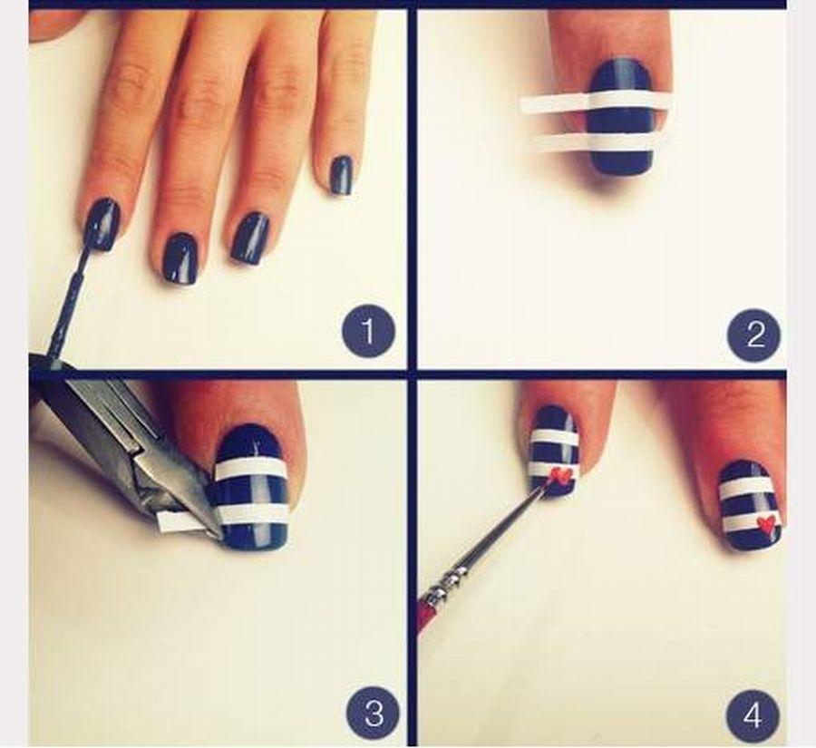 Simple Nail Art Tutorial Step By Step Nail Art Pinterest