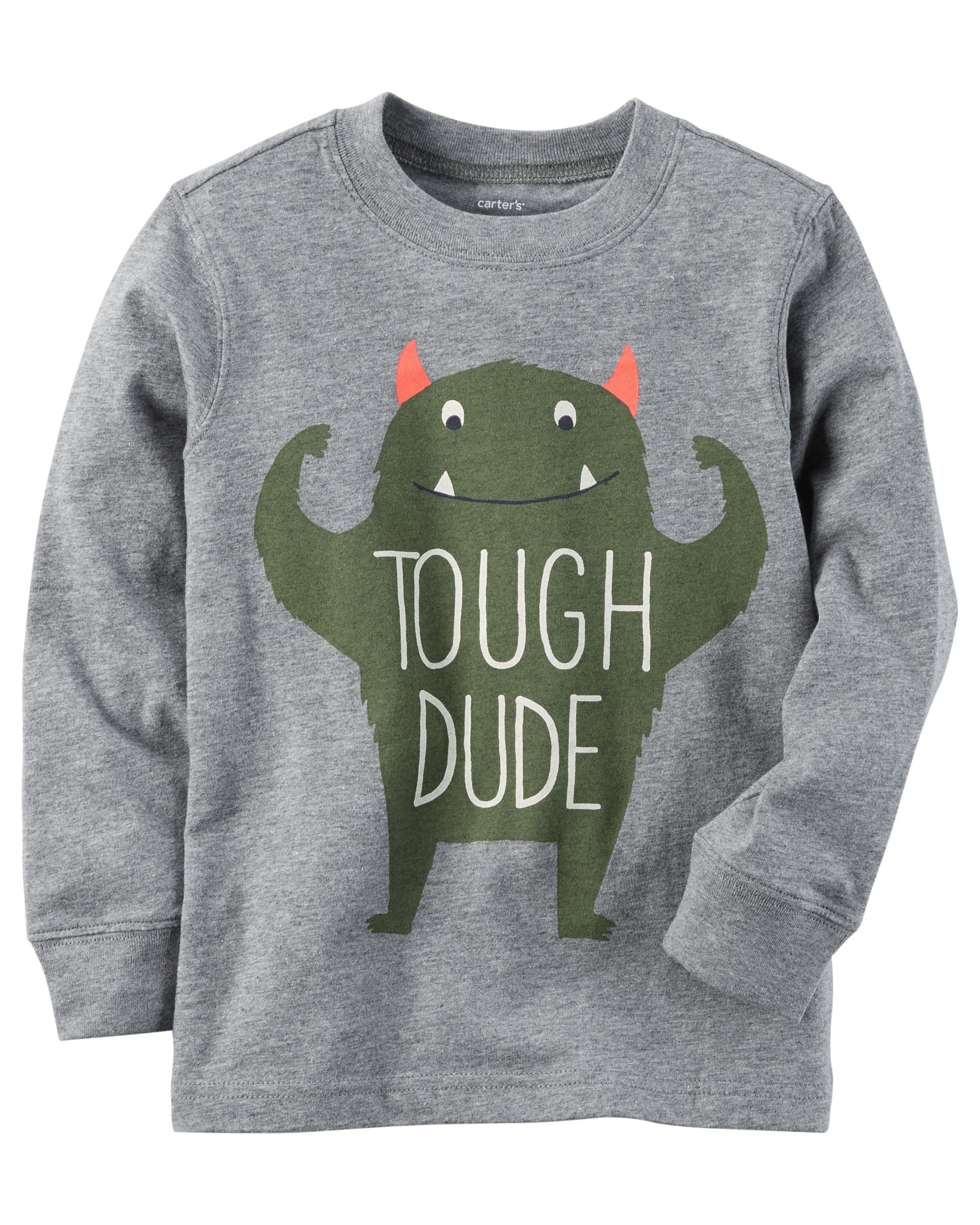750250f21 Toddler Boy Long-Sleeve Tough Dude Graphic Tee