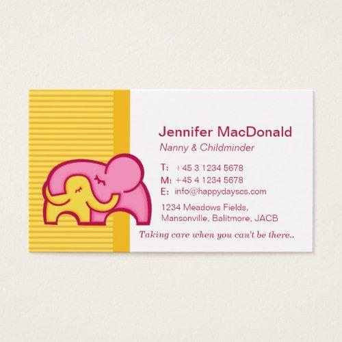 Childminder Baby Sitter Carer Business Cards