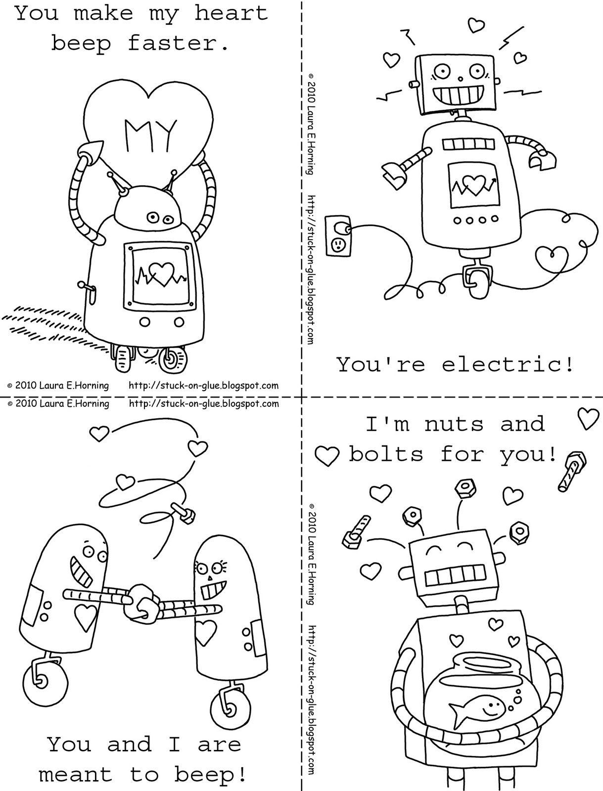 Printable Robot Valentines