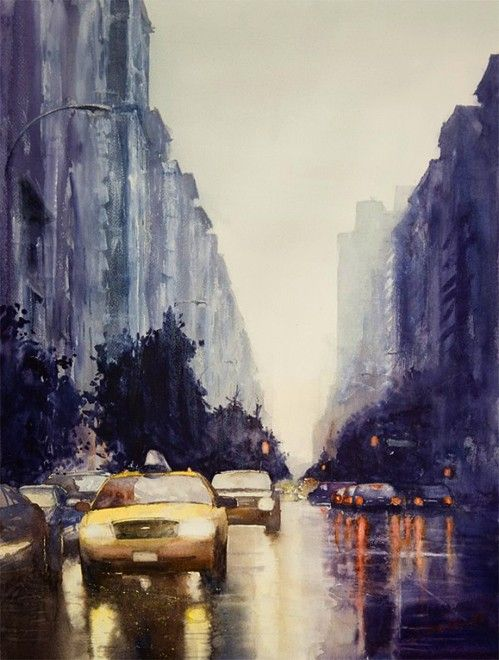new york city watercolor