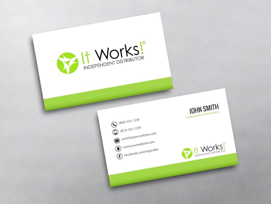 It Works Business Card 07 Free Business Card Templates Printing Business Cards Free Business Cards