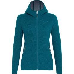 Photo of Salewa Woolen 2L W Hoody Damen Kapuzenjacke türkis M Salewa