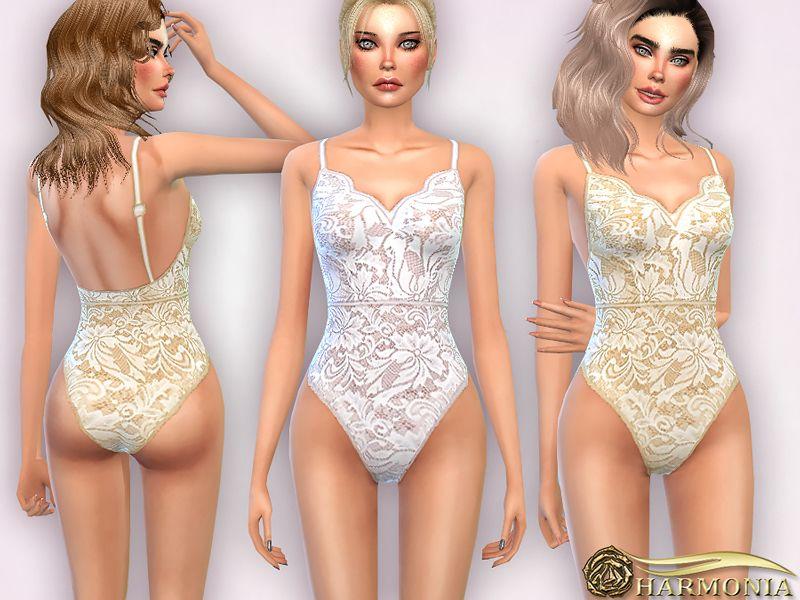 7648c14ce6 Lace Bodysuit Found in TSR Category  Sims 4 Female Sleepwear