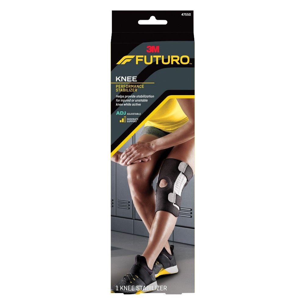 02fe539b34 Futuro Performance Knee Stabilizer, Adjustable, Black Knee Brace,  Stability, Braces, Marathon