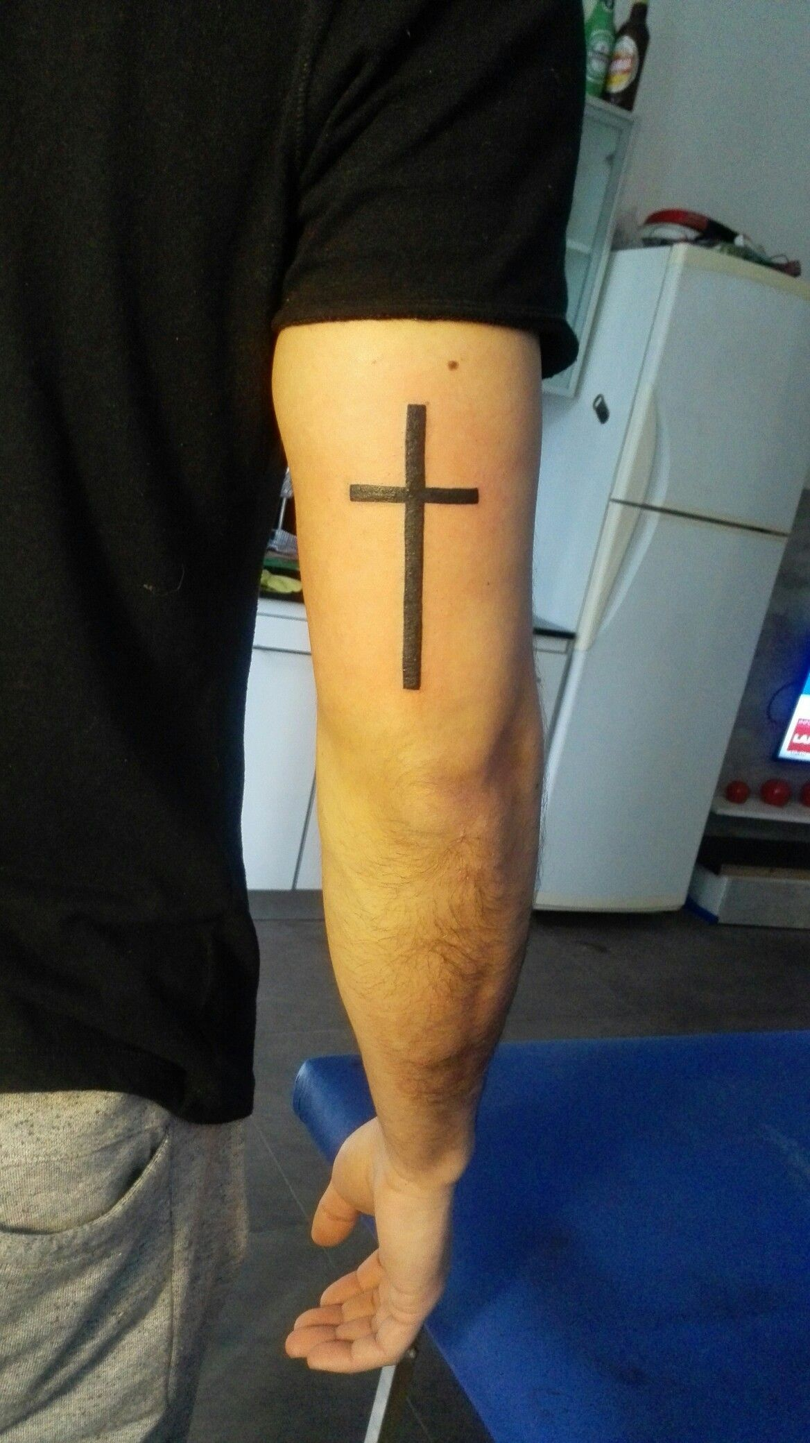 Cruz Tatuaje Hombre Google Search Tatus Tattoo Ideen Tattoo