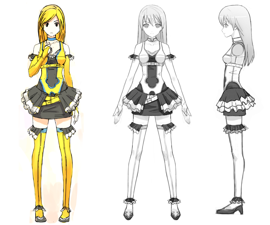 Yellow Model Sheet by on