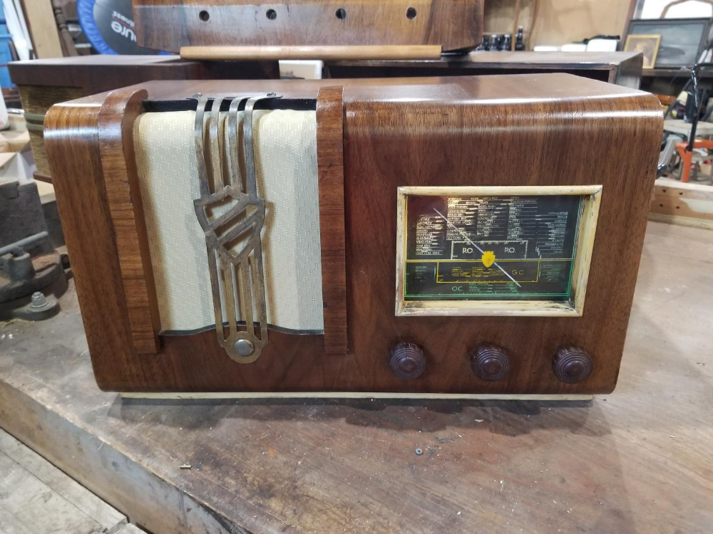 Antique French Clarville Tsf Radio Bluetooth Conversion Etsy In 2020 French Antiques Radio Antiques