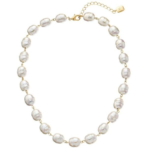 LAUREN by Ralph Lauren Pretty In Pearls 18 Rosary Linked Pearl w/... ($68) ❤ liked on Polyvore