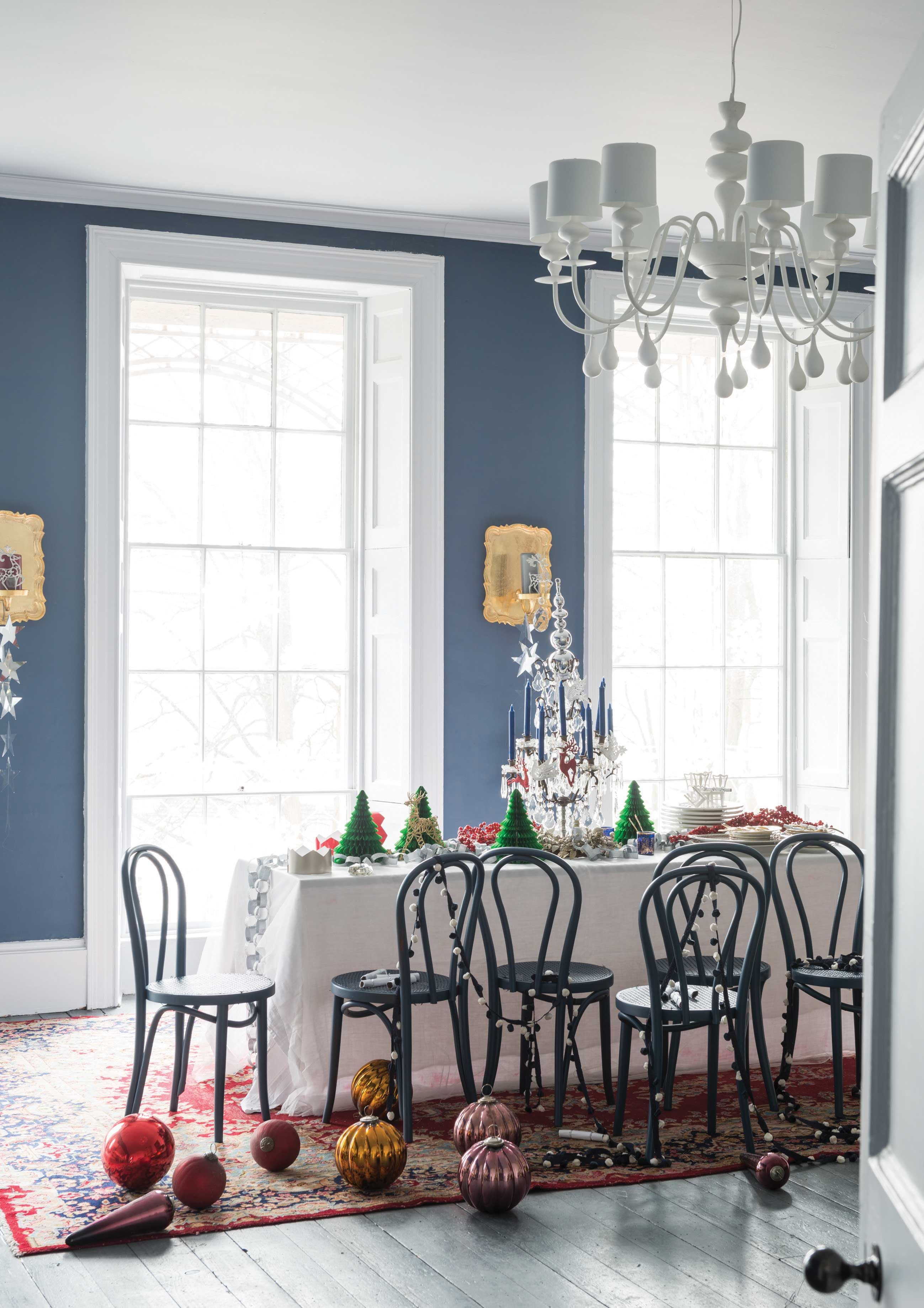 Best Stiffkey Blue And Wevet Create A Festive Scheme For This 400 x 300