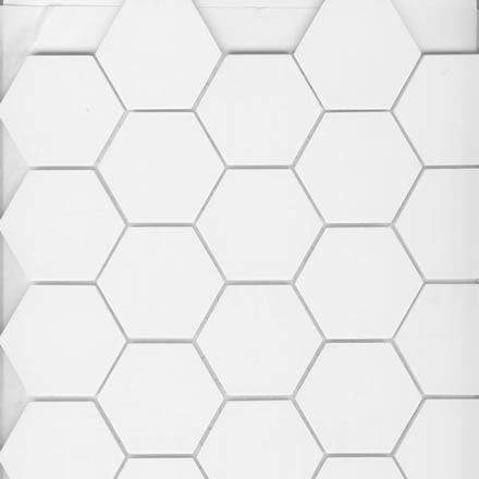 2 Quot Unglazed Porcelain Hex Tile Arctic White Dietsch