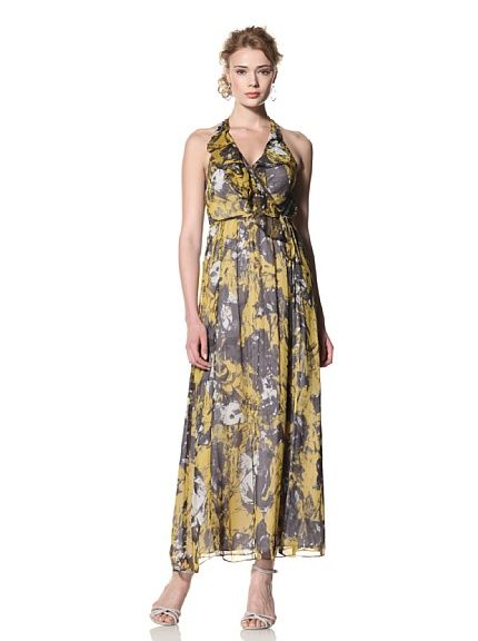 Andrew Marc Collection Women's Surplice Ruffle Front Maxi Dress at MYHABIT