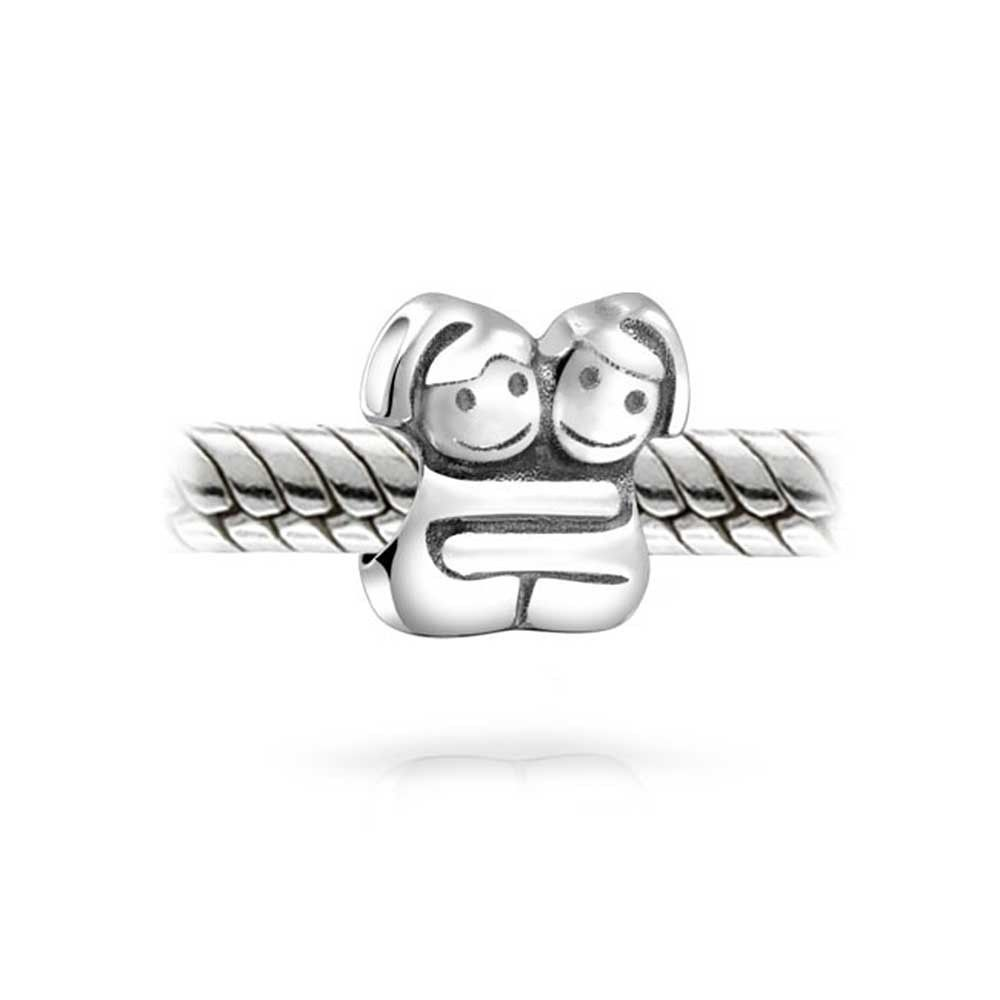 8e24c4751 Bling Jewelry 925 Silver Hugging Sisters Twin Girl Bead Char ...