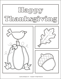 Free Thanksgiving coloring pages  autumn fall coloring sheets