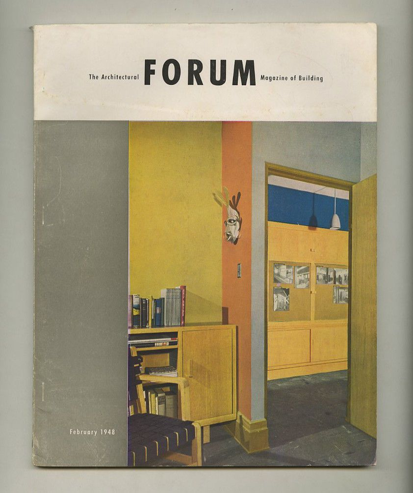 1948 Herbert Bayer ARCHITECTURAL FORUM Container Corp. Of