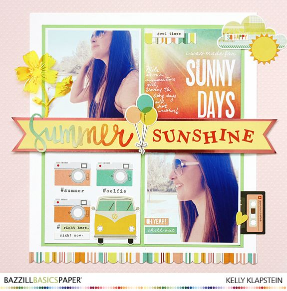 Texture 101: A Summer Layout That Shines!