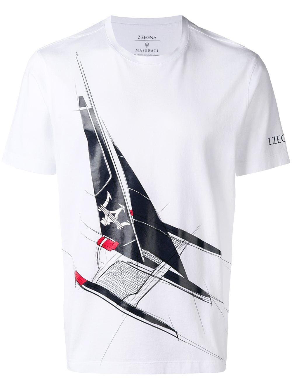 8c814e29 Z ZEGNA Z ZEGNA MASERATI PRINT T-SHIRT - WHITE. #zzegna #cloth | Z ...