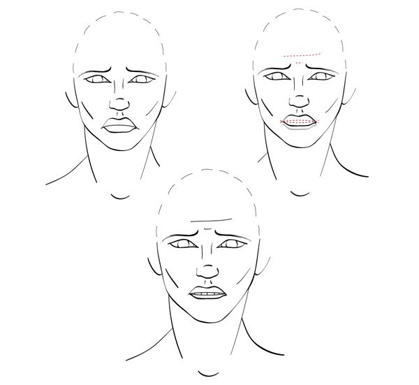 how to draw a simple anamaie mouth