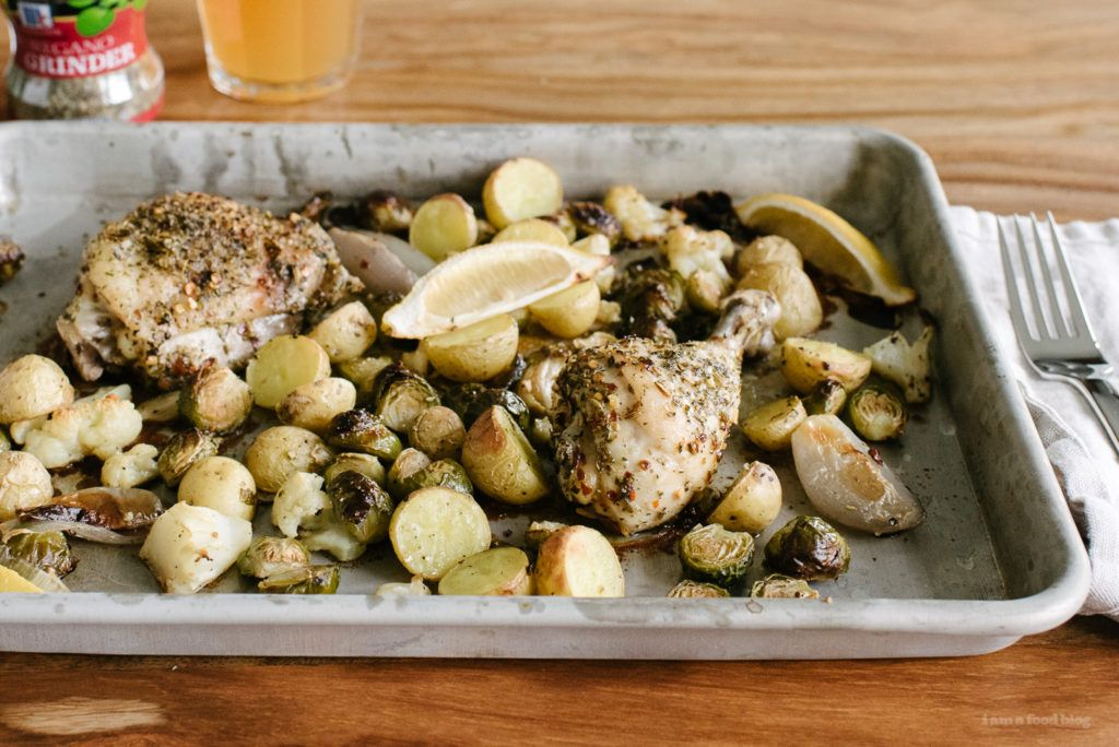 Herb Crusted Roasted Chicken Sheet Pan Supper · i am a food blog