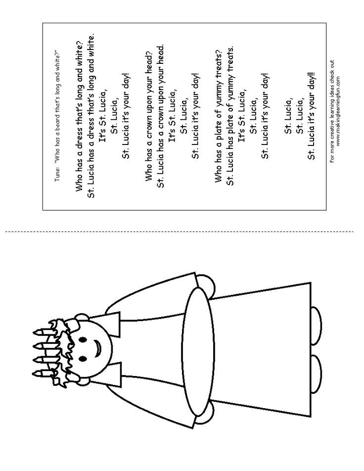 st lucy coloring page bing images