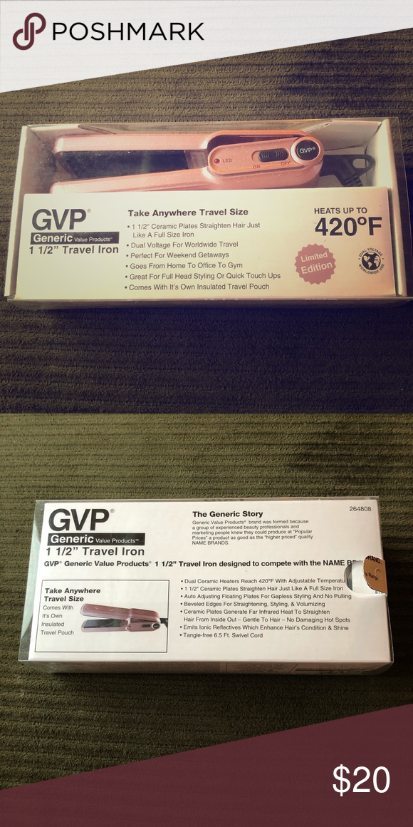 Gvp Travel Size Flat Iron Travel Size Products Travel Pouch Travel