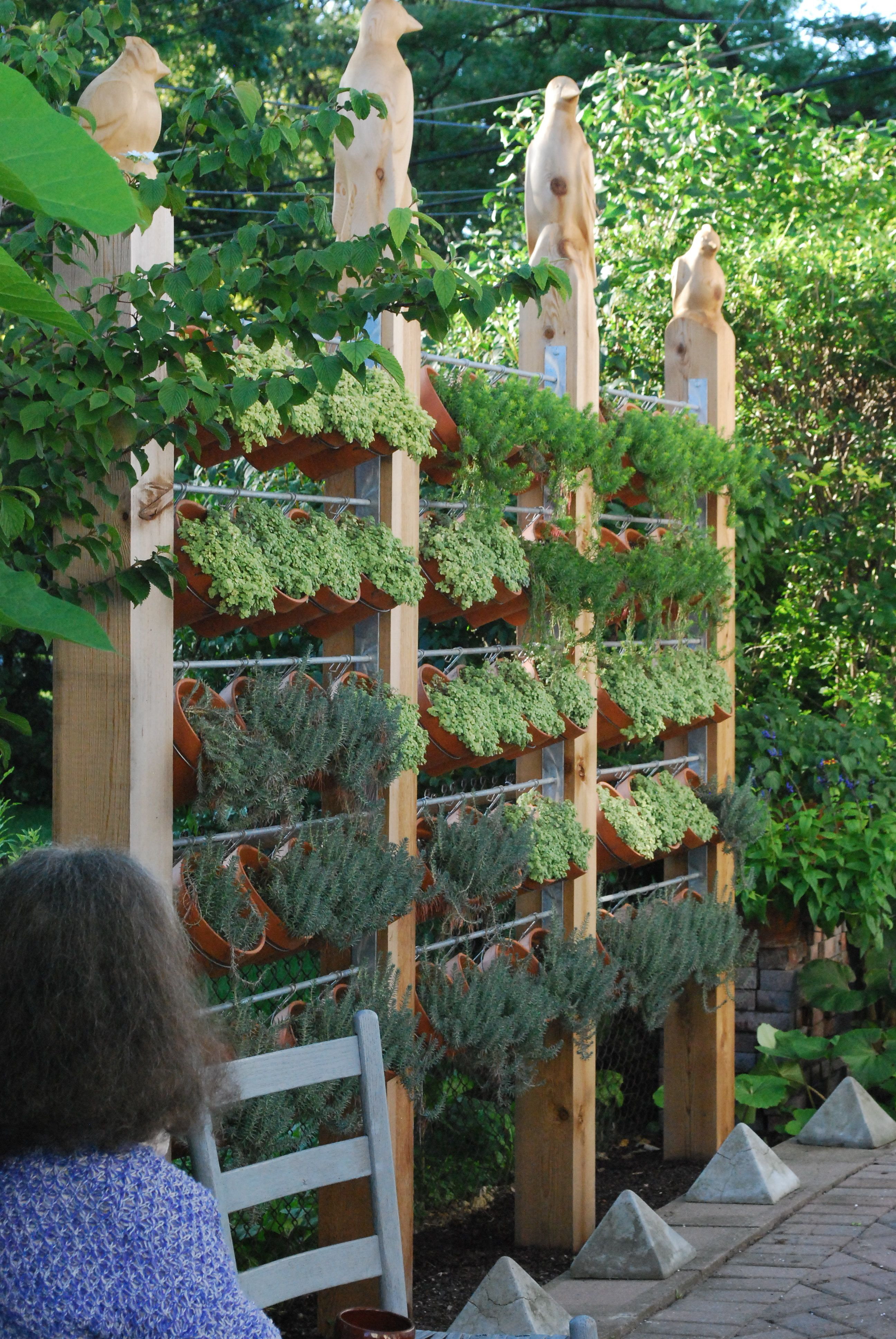 look how many plants can fit into this vertical garden space