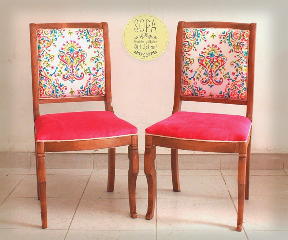 Sillas francesas antonia sillas sillones bancos y for Sillas comedor estampadas