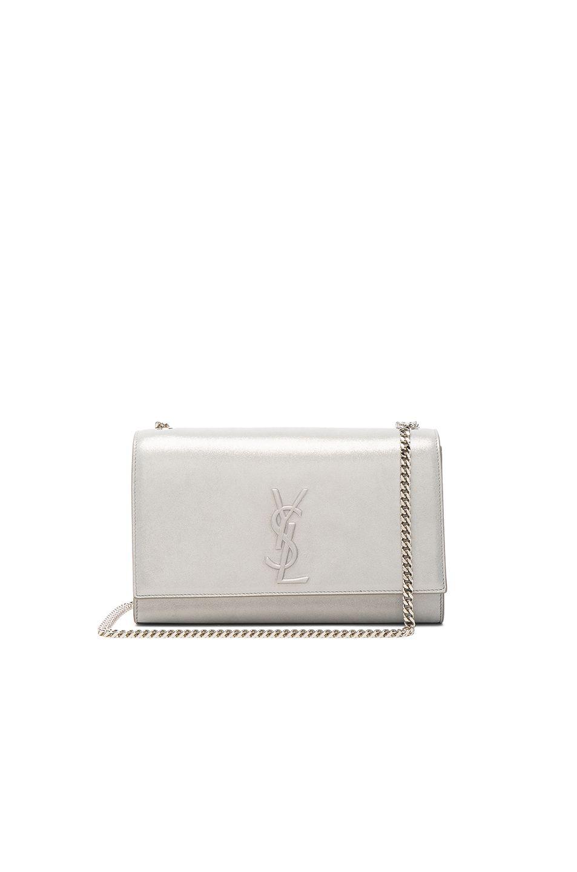 a5055db8e8b0 SAINT LAURENT Kate Medium Monogramme Chain Bag.  saintlaurent  bags  shoulder  bags  lining  suede  metallic