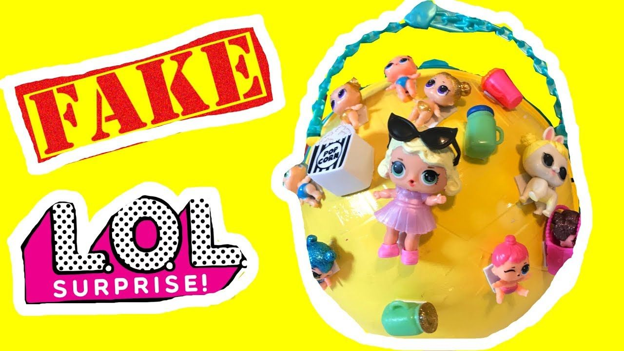 Custom fake LQL LOL fakers giant BIG ball caboodle toy surprises toys do. 908f479dc8