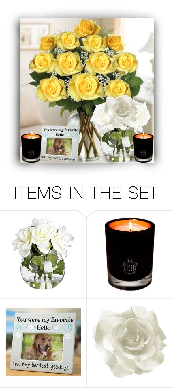 """""""Yellow & White Roses Contest"""" by rboowybe ❤ liked on Polyvore featuring art"""