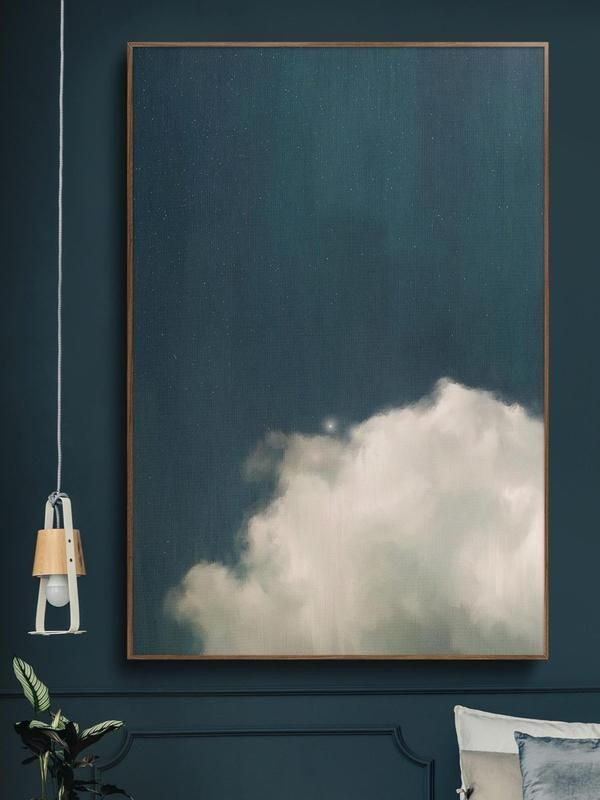 Instantly update your room with this stunning large wall art on canvas, by artist Corinne Melanie. Large Wall Art | Abstract Art | Cloud Painting Title: Cumulus IISize: Your choice of 50x75CM (20x30IN), 60x90CM (24x36in), 75x100CM (30x40IN) or 80x120CM (32x48IN)Materials: Rich + Vibrant, archival quality, Giclée inks #artinstallation