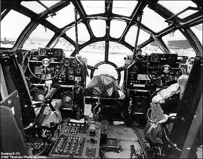 B29 cockpit 戦闘機