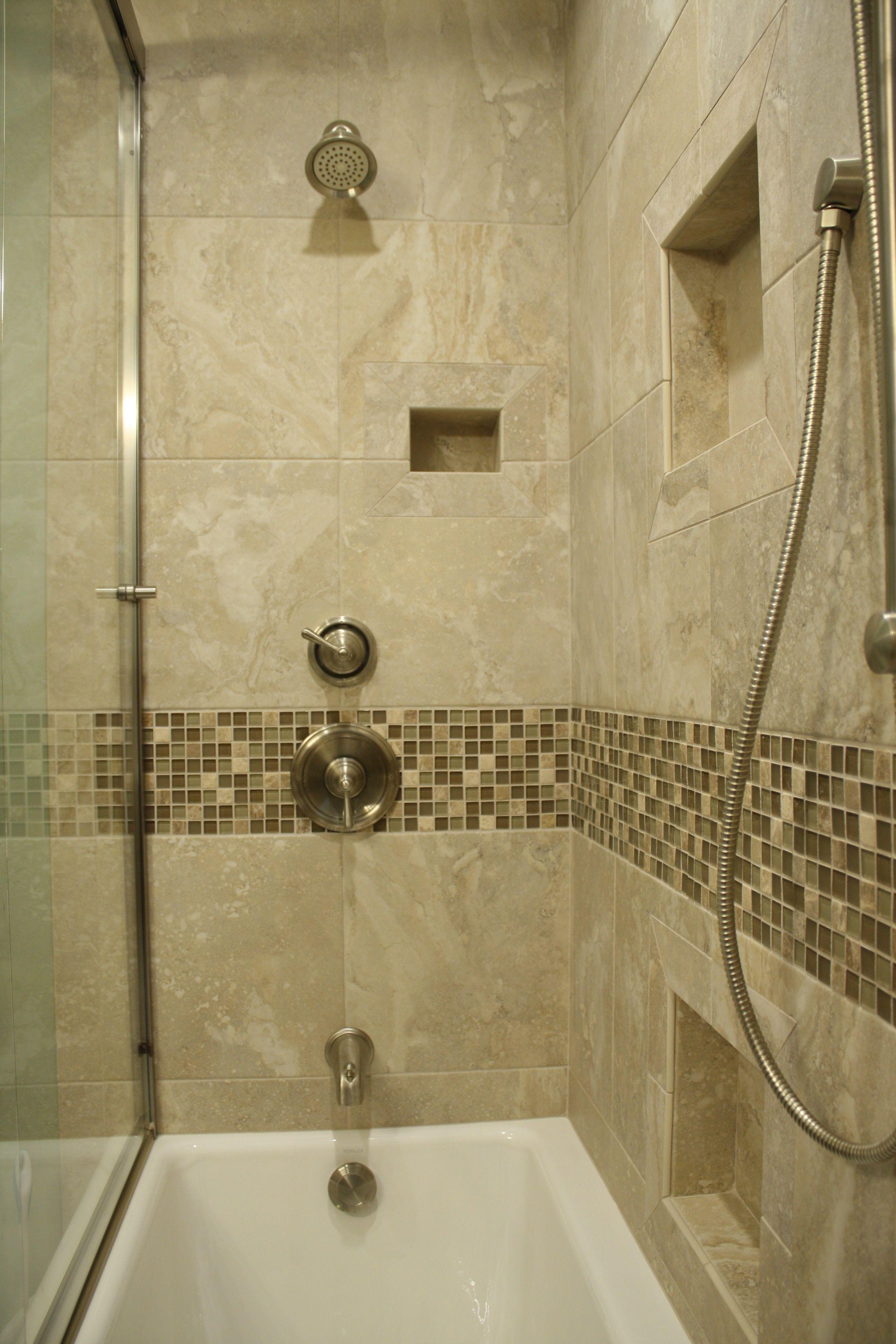 Traditional tile shower, Plumb Crazy, Inc. | Bathroom | Pinterest ...
