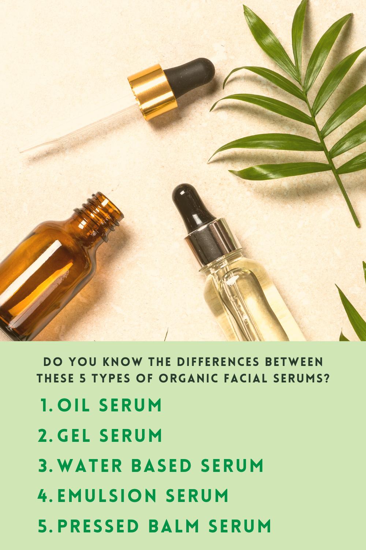 5 Types Of Organic Facial Serum Formulation Organic Facial Serum Facial Serum Organic Facial